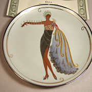 "House of Erte, Franklin Mint ""Diva II"" with COA and Box"
