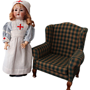 Kammer and Reinhardt 117n German Antique Doll - 17 inch/nurse costume