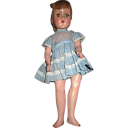 American Character blonde early small sweet Sue doll in blue dress 14&quot;
