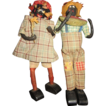 Black Americana RARE Children dolls boy girl boy with watermelon girl with flowers