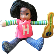 Honey Hill Bunch Rock Star doll miniature Mattel 1976 SOLO and his guitar