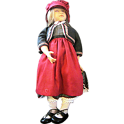 "Sonja Hartmann Red Ridinghood 18"" LE 113 of 500 vinyl doll with PINK eyes"