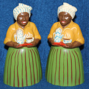 1950's F & F Luzianne Mammy Salt and Pepper Shakers