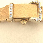 Watch14k Gold and Diamond Vintage Ladies