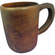19th Century Cherry Burl Mug