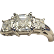 REDUCED 1.07CT G VS1 GIA Square Emerald Cut Diamond Jewelry Ring