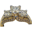 1.95CTW G-H S12 Princess & Round Diamond Jewelry Ring