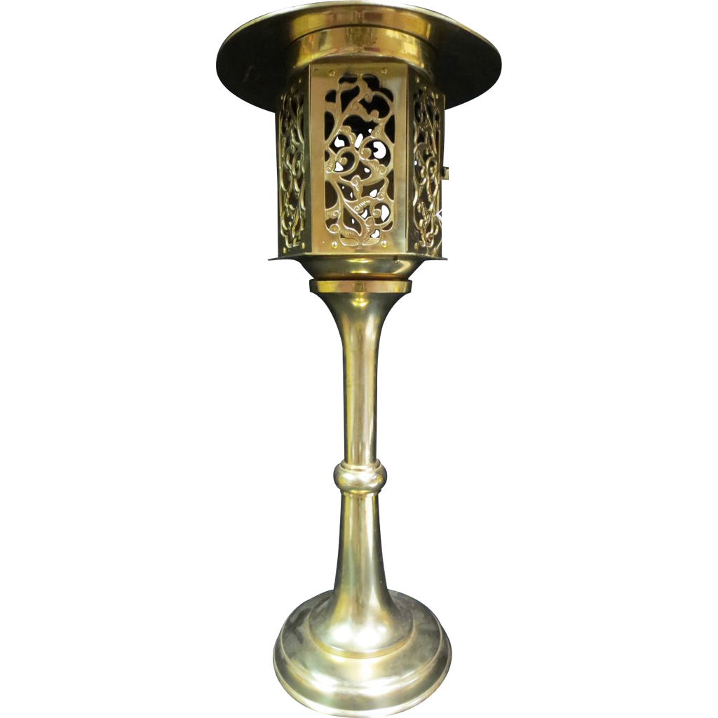 Japanese Brass Candlestick Street Light