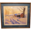 Original Thomas Hermansader Watercolor &quot; Day's End &quot; w/COA