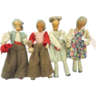 4 Wooden Headed Vintage Dolls
