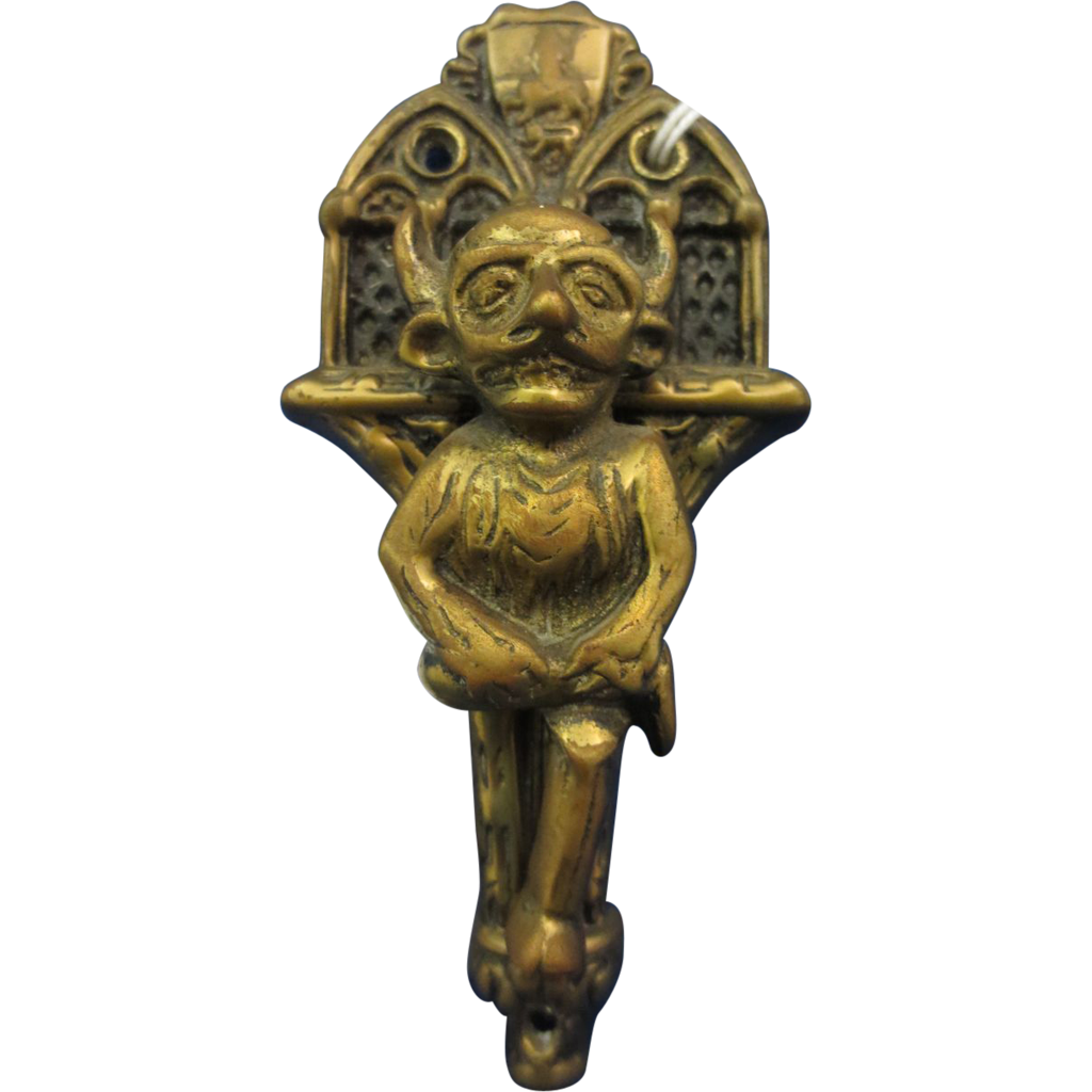 Antique Brass Devil Door Knocker
