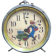 Vintage &quot;Black Popeye&quot; Wind Up Alarm Clock