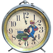 "Vintage ""Black Popeye"" Wind Up Alarm Clock"