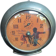 "Vintage ""Twin Boys"" Wind Up Alarm Baby Ben Clock"