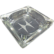 Vintage Crystal Hamilton Watch Co. Ashtray