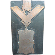 Masonic Letter Press Blocks 1914