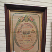"Antique Framed ""Lords Prayer"" Circa 1800's"