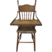 Fabulous Yellow Kid Highchair 1895-1898 Antique