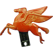 "Mobile ""Pegasus"" 1940's Tin 5"" Hood Ornament"