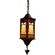Beautiful Art Deco /Nouveau Chandelier Lantern