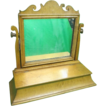 Antique Wood Shaving Stand w/Tilting Mirror & Drawer