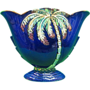RARE-Large Art Deco Beswick Palm Tree Vase #1065