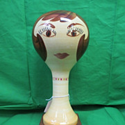 RARE-Stangl Brunette Wig Stand #5168