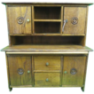 Hand Crafted Miniature Step Back Hutch w/Cutting Board