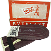 "1950's ""Everlast Sporting Goods"" Jack Dempsey Speed bag Gloves w/Box NEVER USED"