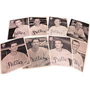 1950 Vintage 8-Philadelphia Bulletin Pin-Ups Players