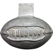 Early Football Shaped Pewter Ice Cream or Candy Mold