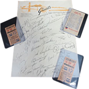 1966 S.F. Giants 2 Ticket Stubs Schedule & Willie Ways Facsimile Auto.