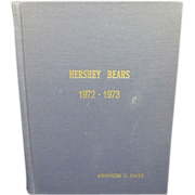 Hershey Bears 1972-1973 Complete Year of Programs Bound in Custom Book