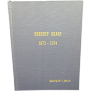 Hershey Bears 1973-1974 Complete Year of Programs Bound in Custom Book