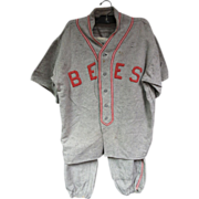 "1920's ""Bees"" Baseball Uniform w/Sun Collar"