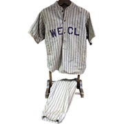 "1920's ""WECL"" Baseball Uniform w/Sun Collar"