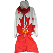 1996 Olympics in Atlanta Canada Champion Warm Up Suit w/Cap