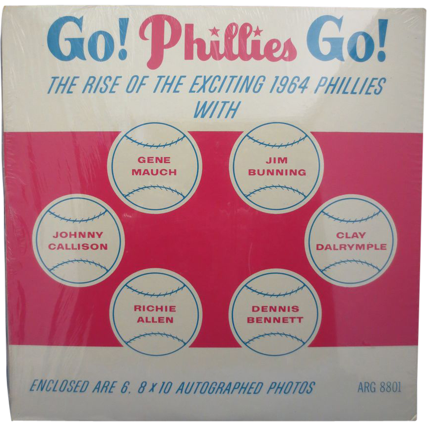 "RARE-1964 ""Go! Phillies Go!"" Never Opened Record Album"