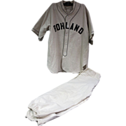 1920's Rohland Baseball Uniform w/Sun Collar