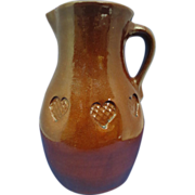 SALE Beautiful Redware Pitcher