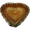 Redware Heart Shaped Bowl Foltz