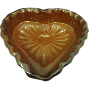 SALE Redware Heart Shaped Bowl Foltz