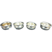 4-Antique Sterling Silver Salt Cellars