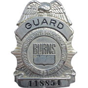 Vintage Burns Security Badge