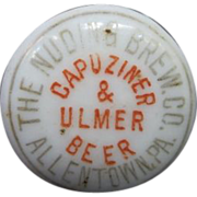 Porcelain Hutter Nuding Brew Co. Capuziner & Ulmer Beer, Allentown Pennsylvania