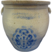 FH Cowden Wilcox Cobalt Decorated Crock