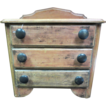 Beautiful Antique 3 Door Miniature Chest