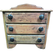 SALE Beautiful Antique 3 Door Miniature Chest