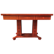 Walnut Inlaid Masonic Marquetry Table
