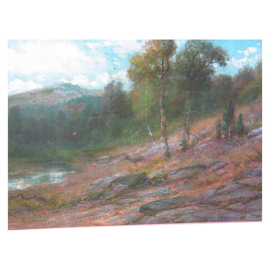 Antique Oil Painting by Christopher H. Shearer